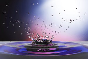 water splash drops