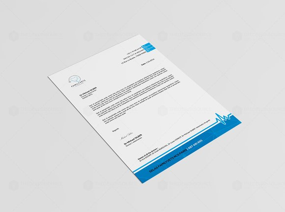 Professional Letterhead Stationery Templates on Creative Market – Professional Letterhead