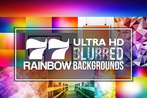 77 Ultra HD Blurred Rainbow Bg