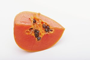 sliced papaya