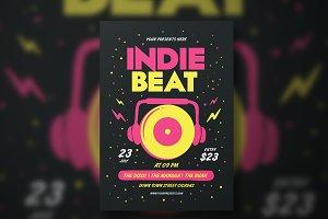 Indie Beat Flyer
