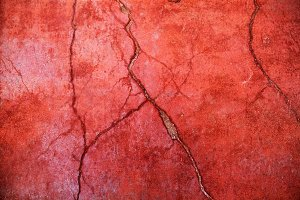 crack on the red wall
