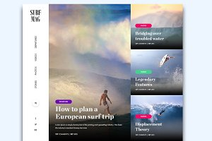 Surf Magazine - PSD