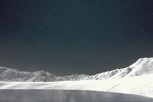 Snow in the North Pole