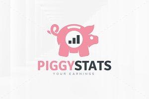 Piggy Stats Logo Template