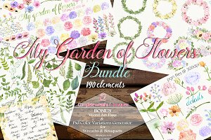 190 Floral & Leaves Bundle