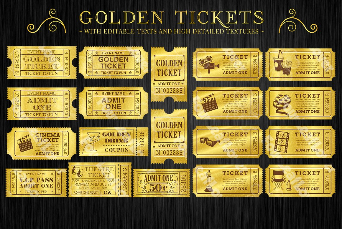 This is a graphic of Superb Printable Golden Tickets
