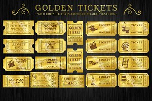 Golden Tickets Templates Set
