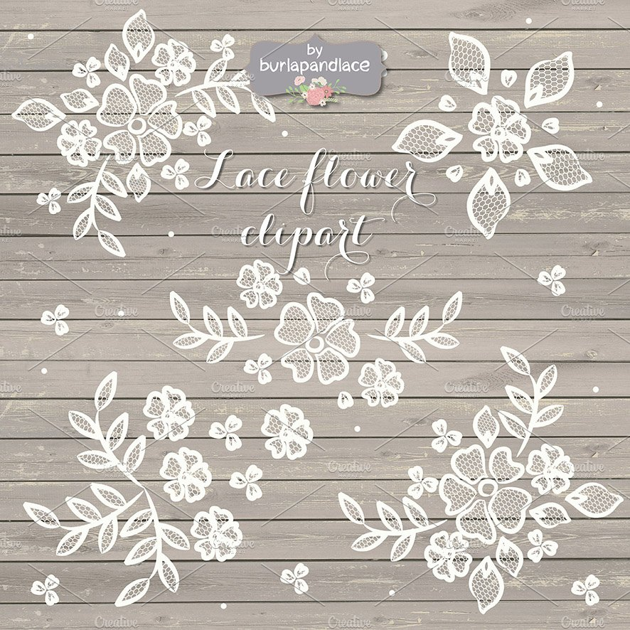 Rustic Lace Clipart Illustrations Creative Market