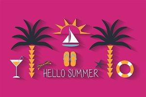 Summer background pink color