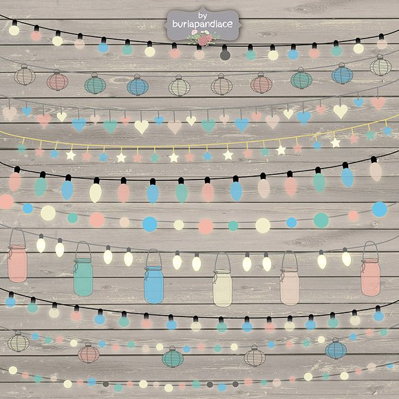 String Lights Clipart color
