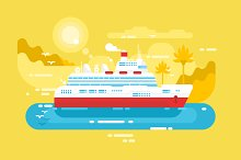 Cruise ship design flat