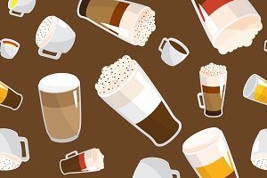 Coffee pattern vector illustration
