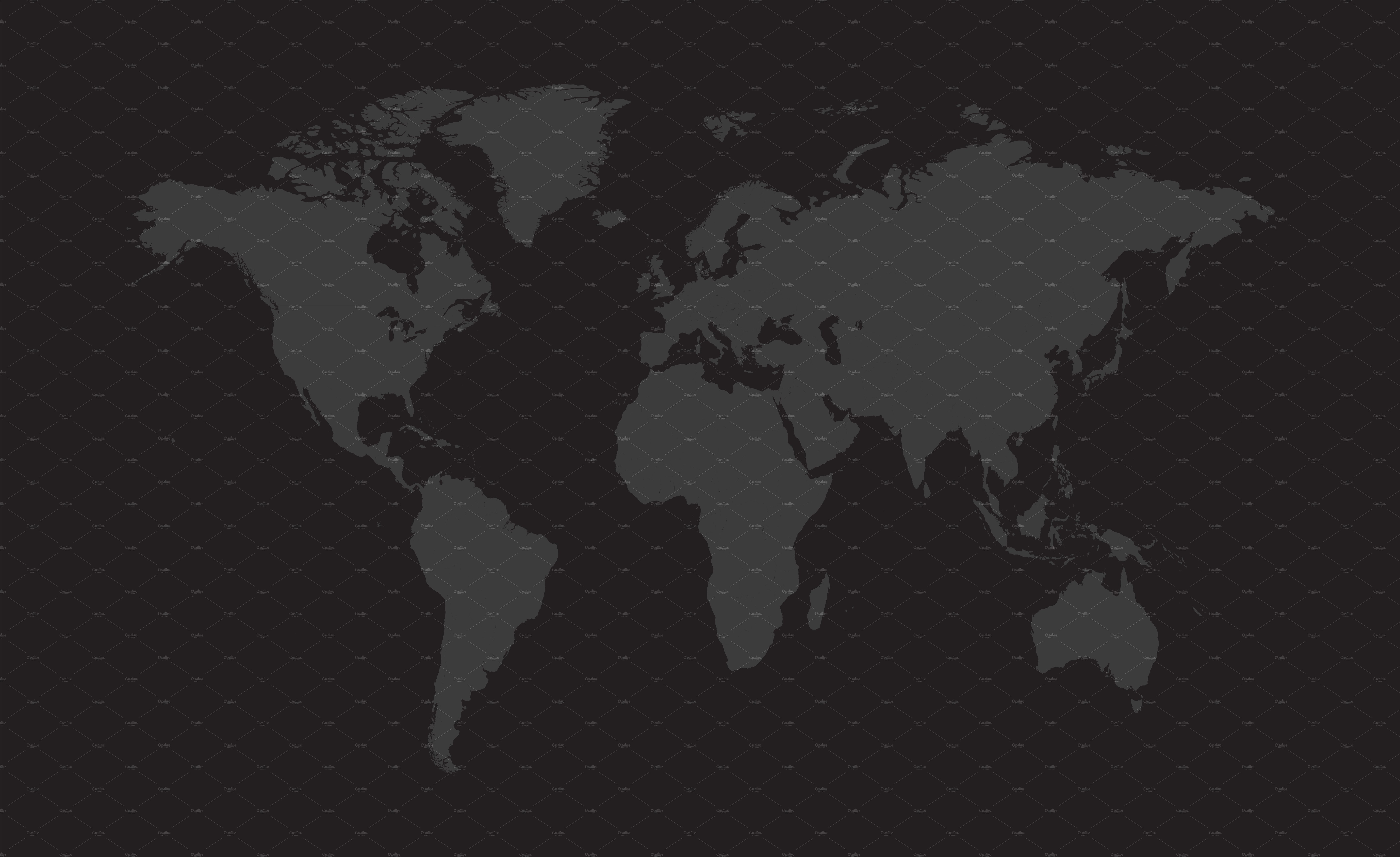 World Map Vector Dark Gray Color Web Elements Creative Market