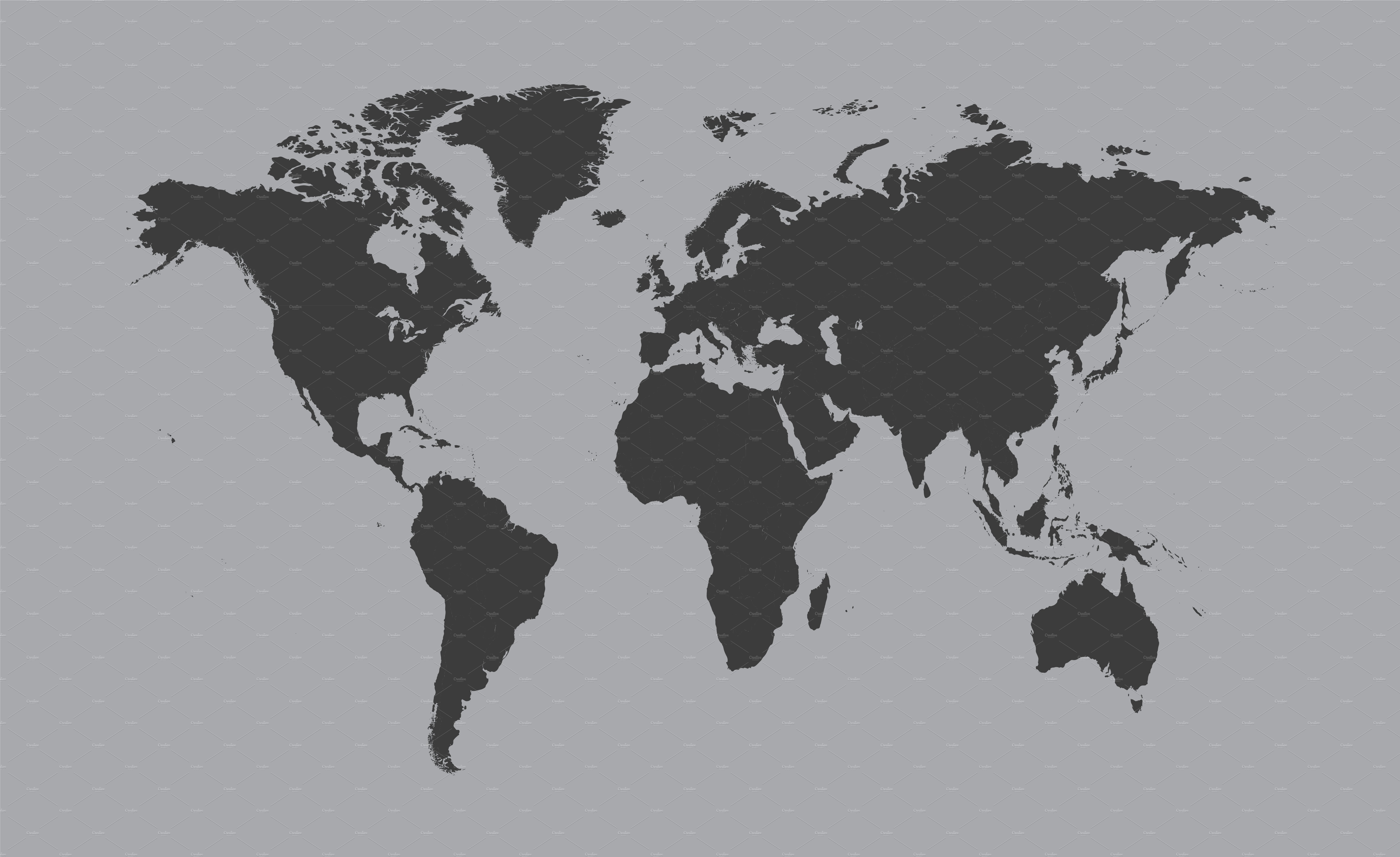 World map gray vector web elements creative market gumiabroncs Gallery