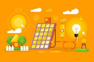 Solar battery design concept