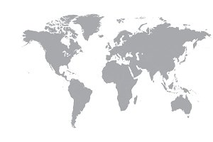 World map vector flat
