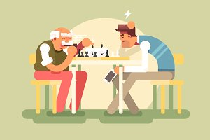 People play chess