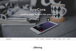 AppCore - App Landing Page