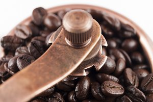 coffee grinder closeup