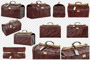 Travel bag leather, set