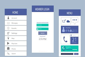 Mobile interface flat design