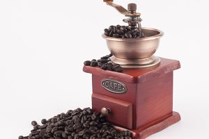 coffee grinder on white