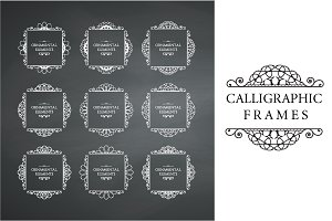 Calligraphic frame design