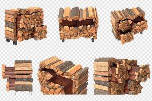 Wood cabinet furniture, set