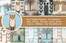 Fox Patterns, Woodland Animal Papers