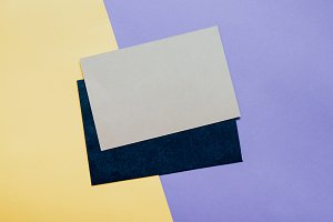 Blank card envelope