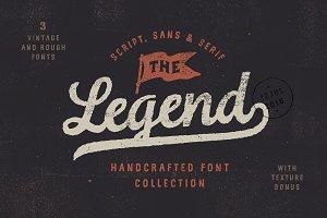 Legend Font trio + Textures