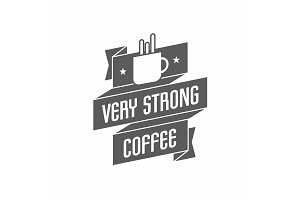 Retro vintage coffee logo