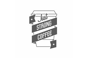 Logo for coffee house or cafe
