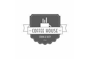 Coffee house vector logo