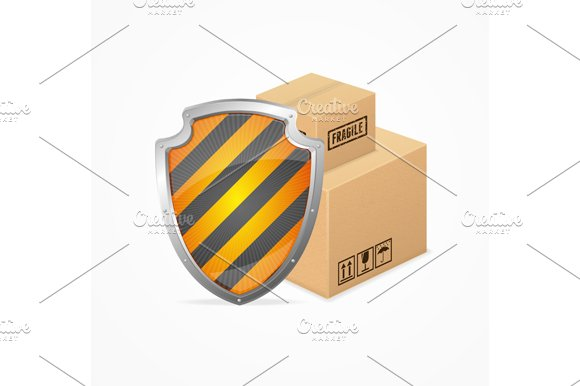 Delivery Safety Concept. Vector - Illustrations