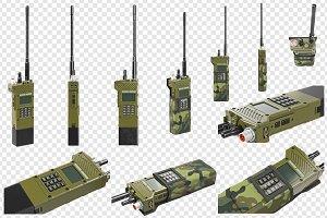 Military radio, set