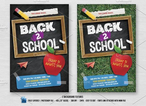 Back 2 School Flyer Flyer Templates Creative Market