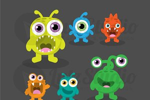 Cute, High Quality Vector Monsters