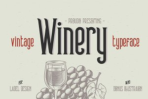 Winery typeface + bonus