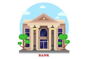 Financial building or bank