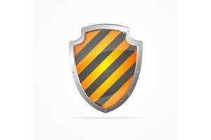Striped Shield. Vector