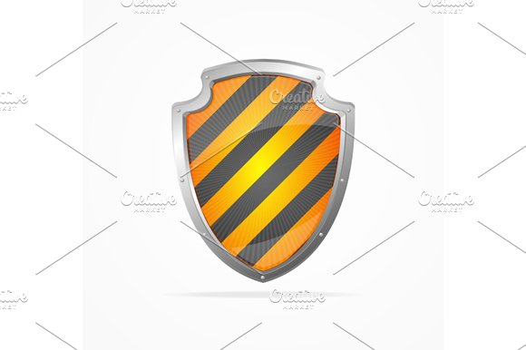 Striped Shield. Vector - Objects