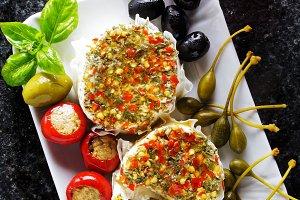 olives, capers, buffalo mozzarella