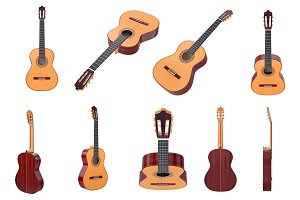 Acoustic guitar, set