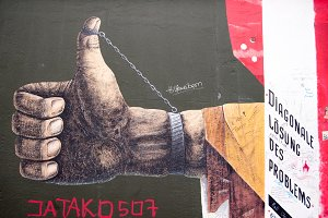 Berlin Wall Art - Thumbs Up