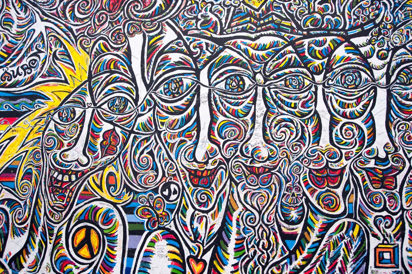 Berlin Wall Art Berlin Wall Art Faces Arts Entertainment Photos