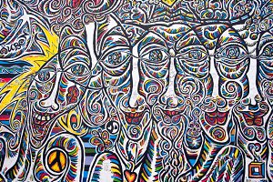 Berlin Wall Art - Faces
