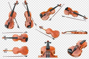 Violin musical equipment, set