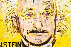 Berlin Wall Art - Albert Einstein